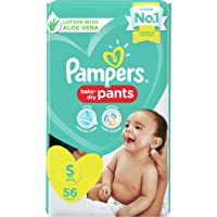 Pampers New Diapers Pants, Small, 56 Count