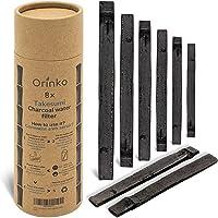 orinko Binchotan Bio 8X | Charbon Actif Takesumi de Bambou pour Purification d'eau + E-Book | Passez-Vous des Eaux en…