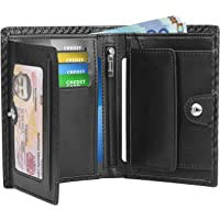 Portefeuille Homme Cuir Porte-Monnaie RFID/NFC Blocage 1 Grand Compartiment de sécurité zippé, 9 Porte Carte Crédits, 2…