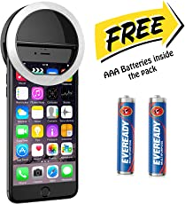 HKI Selfie Ring 36 LED Flash Light for for iPhone, Samsung galaxy, Mi, Oppo, Vivo, Xiaomi, Redmi, Sony, HTC