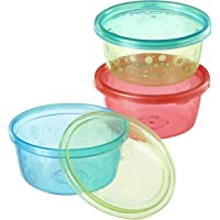 Nuby Muncheez Weaning Bowls with Store and Go Lids, Pack of 4