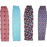 Shree Ji Women's Pack of 4 Cotton Pyjama | Track Pant | Sleepwear(Prints May Vary)