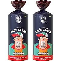 GRAINIC Organic Rice Cakes I Organic Certified I Unsalted I Multigrain (7 Superseeds) I Vegan, All Natural, Gluten Free…