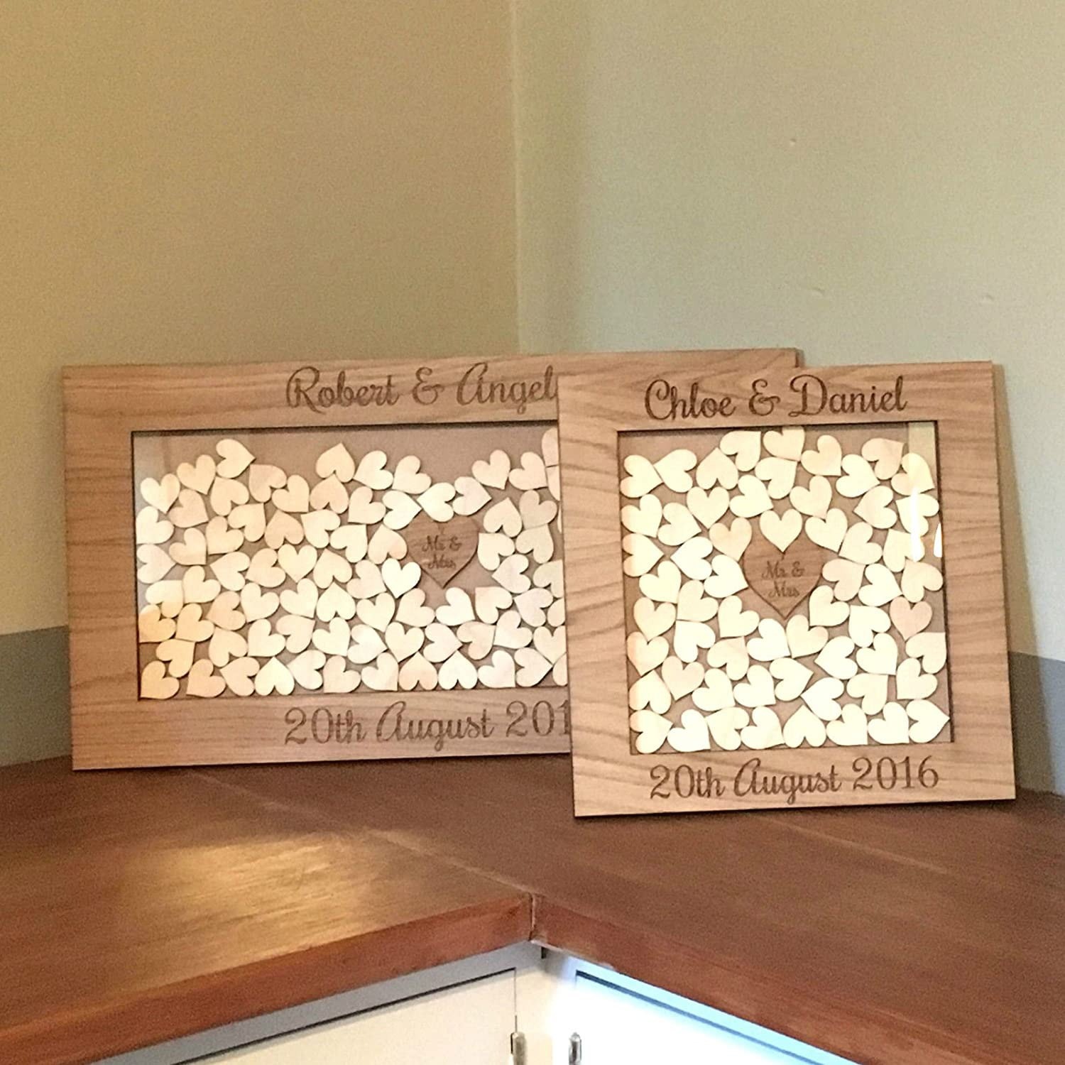 Wooden Drop Box Wedding Guest Book Alternative, Personalised with ...