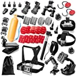 Robustrion 40 in 1 Mounts and Straps Accessory Kit for GoPro Hero 7/6/5/4/3/2/1/SJCAM/Akaso/Apeman/Xiaomi Yi Action Camera