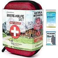 URBAN MEDICAL Premium Erste Hilfe Set aus Deutschland DIN 13167 + Regenponcho + Rettungsdecke | Verbandskasten | Camping…