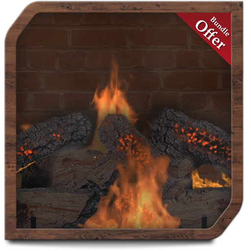 Romantic Firefly Hd Fireplace Wallpaper Themes Amazon Fr
