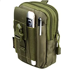Jaishri Polyester Water Resistant Travel Waist Pouch(Army Green)