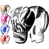 ONEX Boxing Gloves for Kids 6oz Training Punching Sparring Bag Fight Gloves Punch Bag Mitts Muay Thai Kickboxing MMA Martial Arts Workout Juniors Girls and Boys