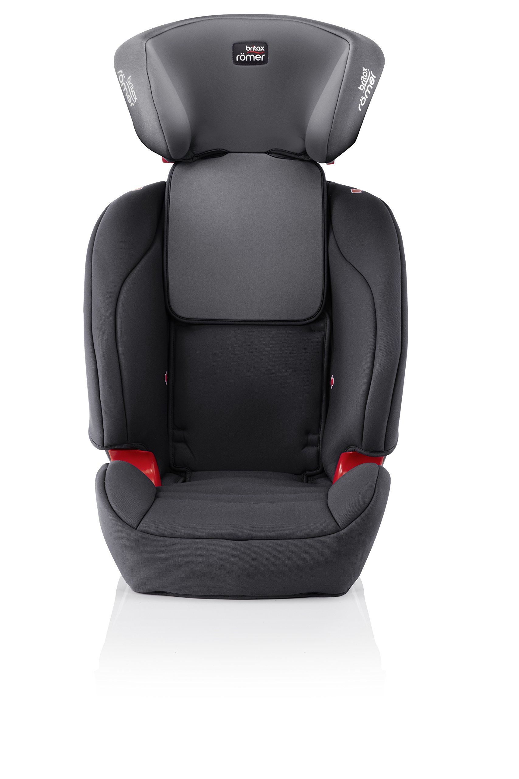 Britax Römer EVOLVA 1-2-3 SL SICT Group 1-2-3 (9-36kg) Car Seat - Storm Grey  Installation, ISOFIX and a 3-point seat belt, or 3-point seat belt only Advanced Side Impact Protection (SICT) minimises the force of an impact in a side collision CLICK & SAFE audible harness system for that extra reassurance when securing your child in the seat 6