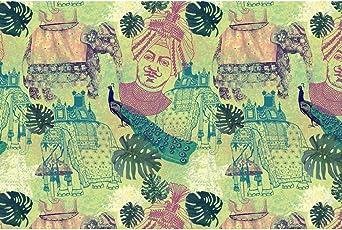 ArtzFolio Ethnic India Art & Craft Gift Wrapping Paper 18 x 12inch;SET OF 10 PCS