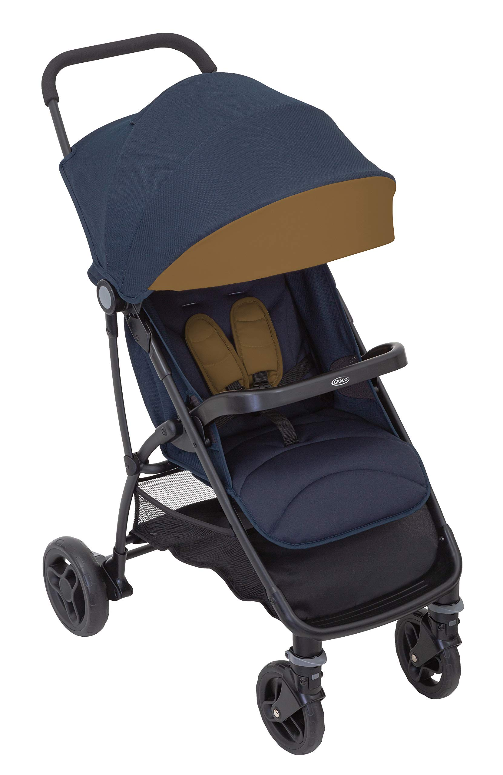 Graco Breaze Lite i-Size Travel System, Eclipse Graco From birth to 3 years approx. (0-15kg) Travel system package with snug essentials isize infant car seat included Lightweight stroller at only 6.5kg 2