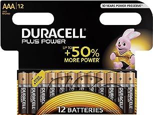 Duracell Plus LR03/MN2400 Power Typ AAA Alkaline Batterien, 12er Pack