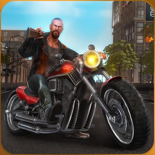 Heavy Bike Vegas City Gangsters Avventura: Criminal Mind Salva il mondo in Battle Royal Simulator Survival Game 2018