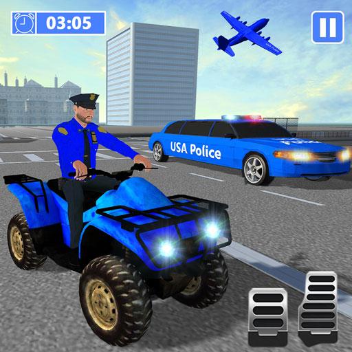 US Police ATV Quad: Transporter Game (Online Boy-spiele Kostenlos)