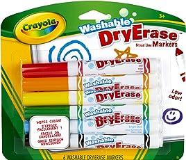 Crayola 98-5807 Pennarelli per Lavagna Bianca, 6 Pezzi