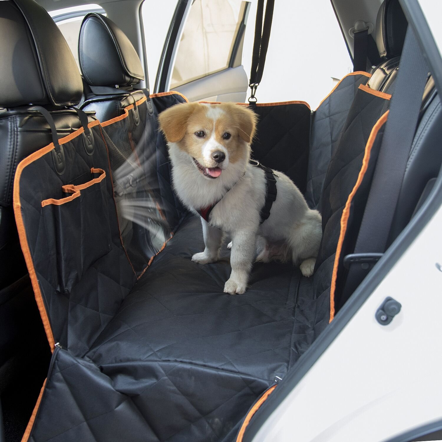 Backseat Dog Hammock >> Details About Slowton Dog Seat Cover Waterproof Pet Car Back Seat Hammock With Rubber Non Sli