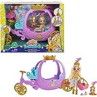 Enchantimals Royals coffret Carrosse Royal avec mini-poupée Peola Poney et figurine animale Petite, 7 accessoires inclus…