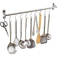 Alicemall Étagère de cuisine multifonction en acier inoxydable, étagère à fixation murale pour casseroles, Acier…