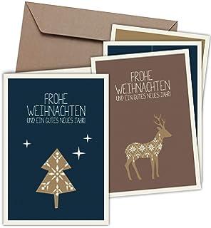 """20 Stück PRICARO Weihnachtskarten mit Briefumschlägen /""""Motive 3/"""" A7"""