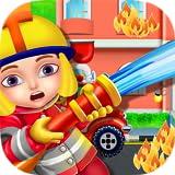 Sapeurs Pompiers Jeu enfants - Jeu gratuit et amusant pour apprendre la lutte contre les incendies et rejoindre la tâche des pompiers de sauver des vies!