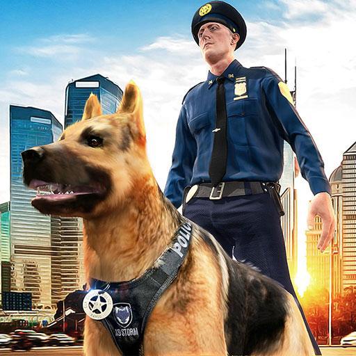 Polizei Hund Jagd Kriminalität Stadt Verbrecherjagd 3D: Cops gegen Räuber Gefängnis Ausbruch Gefängnis entkommen Überleben Mission Abenteuer Simulator Spiel 2018
