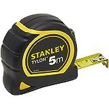 Stanley 1-30-697 - Mètre Tylon Bi matière 5m X 19mm - Ruban Anti-Corrosion - Blocage Du Ruban - Position Du Zéro Réel - Classe Ii - Crochet Pour Ceinture