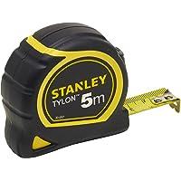 Stanley 1-30-697 - Mètre Tylon Bi matière 5m X 19mm - Ruban Anti-Corrosion - Blocage Du Ruban - Position Du Zéro Réel…