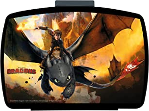 p:os 25947, DreamWorks Dragons Brotdose Premium mit Einsatz, 16 x 12 x 6,5 cm