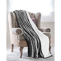 Utopia Bedding Couvertures réversibles en Polaire Sherpa Flannel (200x150 cm) - Tissu brossé Extra Doux, Couverture de lit Super Chaude, Couverture de canapé Confortable et légère, Easy Care