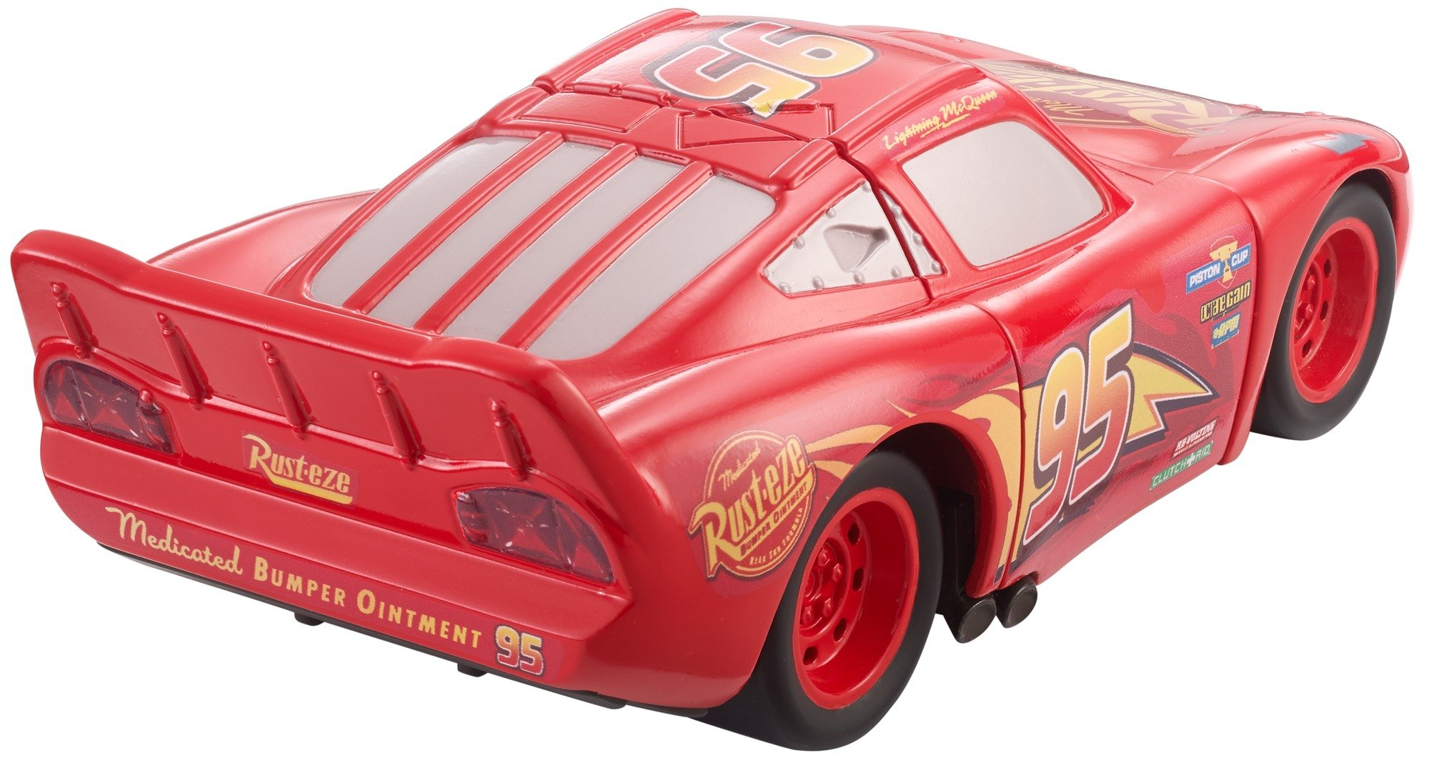 Disney DYW39 Pixar Cars 3 Race and Reck Lightning McQueen Vehicle Disney New Disney Pixar Cars 3 Twisted Crashers vehicle.  His body twists and his eyes change after the crash!  Restore him to his former; pre smash glory by simply twisting the car back into place! 8