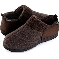 ULTRAIDEAS Men's Cozy Memory Foam Slippers w/Warm Fleece Lining, Wool-Like Blend Micro Suede House Shoes w/Anti-Slip…