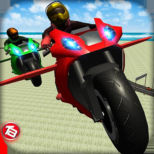 Motorrad-Flugsimulator-Spiel: Drift Bike-Rennen oben kostenlose Spiele