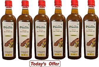 Farm Naturelle Organic Cold Pressed Virgin Kachi Ghani Mustard Oil, 915ml (Pack of 6)