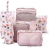 Tuscall Set di 6 Cubo di Viaggio per i bagagli, Organizer Valigia, Cubi da Imballaggio - Perfetto di Viaggio Dei Bagagli…
