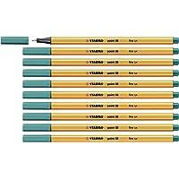 Stylo feutre pointe fine - STABILO point 88 - Lot de 10 stylos-feutres - Turquoise (88/51)
