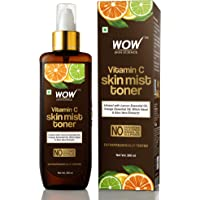 WOW Skin Science Vitamin C Skin Mist Toner with Lemon Essential Oil, Orange Essential Oil With Hazel & Aloe Vera Extracts - For All Skin Types - No Parabens, Silicones, Mineral Oil & Sulphates, 200 ml