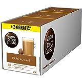 NESCAFÉ Dolce Gusto Café au Lait 54 Kaffeekapseln (ausgewählte Robusta Bohnen, Leichter Kaffeegenuss mit cremigem Milchschaum, Aromaversiegelte Kapseln) 3er Pack (3 x 16 + 2 Kapseln)