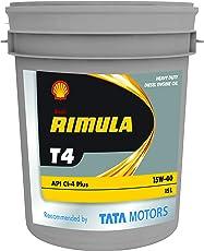 Shell Rimula T4 15W-40 API CI4+ Premium Mineral Engine Oil (15 L)