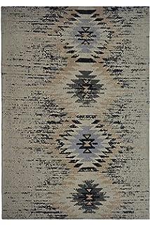 Arte Espina Teppich 100/% Wolle Kilim Fransen Teppichewohnzimmer Beige Creme
