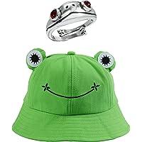 Cappello Sole a Forma di Rana Cappello Tessuto in Cotone & Fun Frog Cappello Invernale a Maglia da Donna Cappello Adatto…
