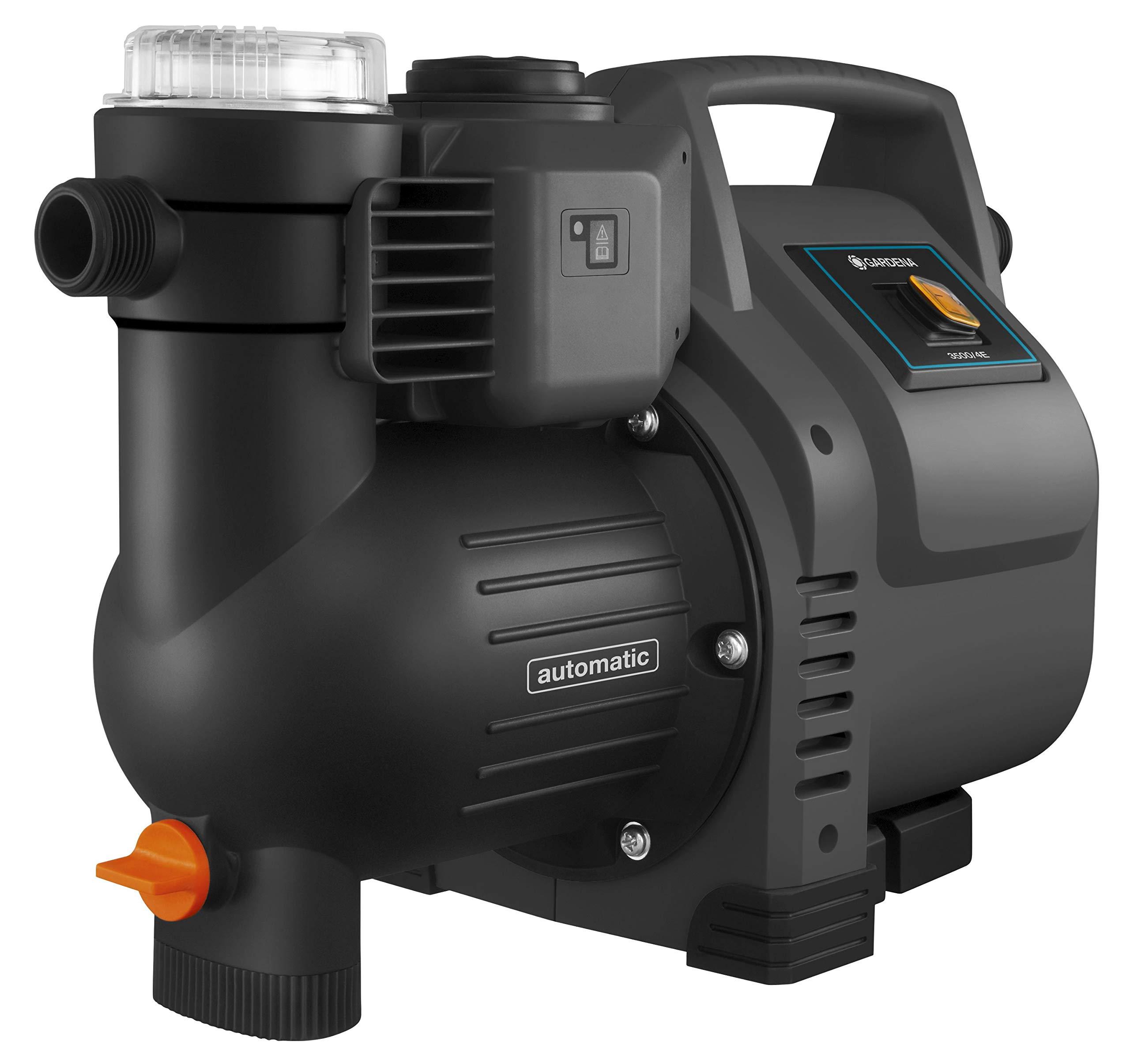 Gardena Hauswasserautomat 3500/4E: Robuste Hauswasserpumpe & Saugschlauch-Anschlussstück 25 mm (1 Zoll): Pumpen…