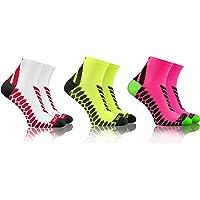 Sesto Senso Calze Corte Sportive Colorate Jogging Donna Uomo 3-12 Paia