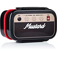 MUSTARD Bento Box I Lunch Box I Boîte à déjeuner avec 3 compartiments en forme d'amplificateur I Boîte de conservation…