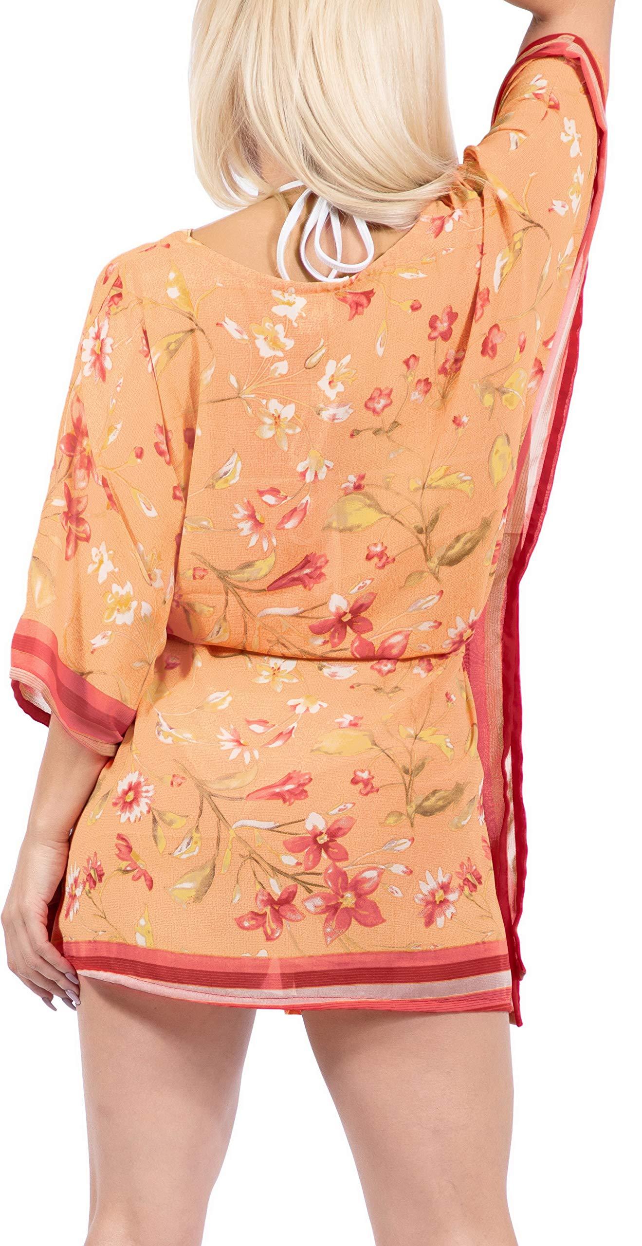 LA LEELA Abito Kimono Abbigliamento Casual Kaftano Top Costume da Bagno Cover up Spiaggia Estiva per Le Donne 5 spesavip