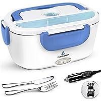TRAVELISIMO Lunch Box Gamelle Chauffante Électrique pour Camion 24V, Chauffe en Quelques Minutes, Acier Inoxydable 1.5L…