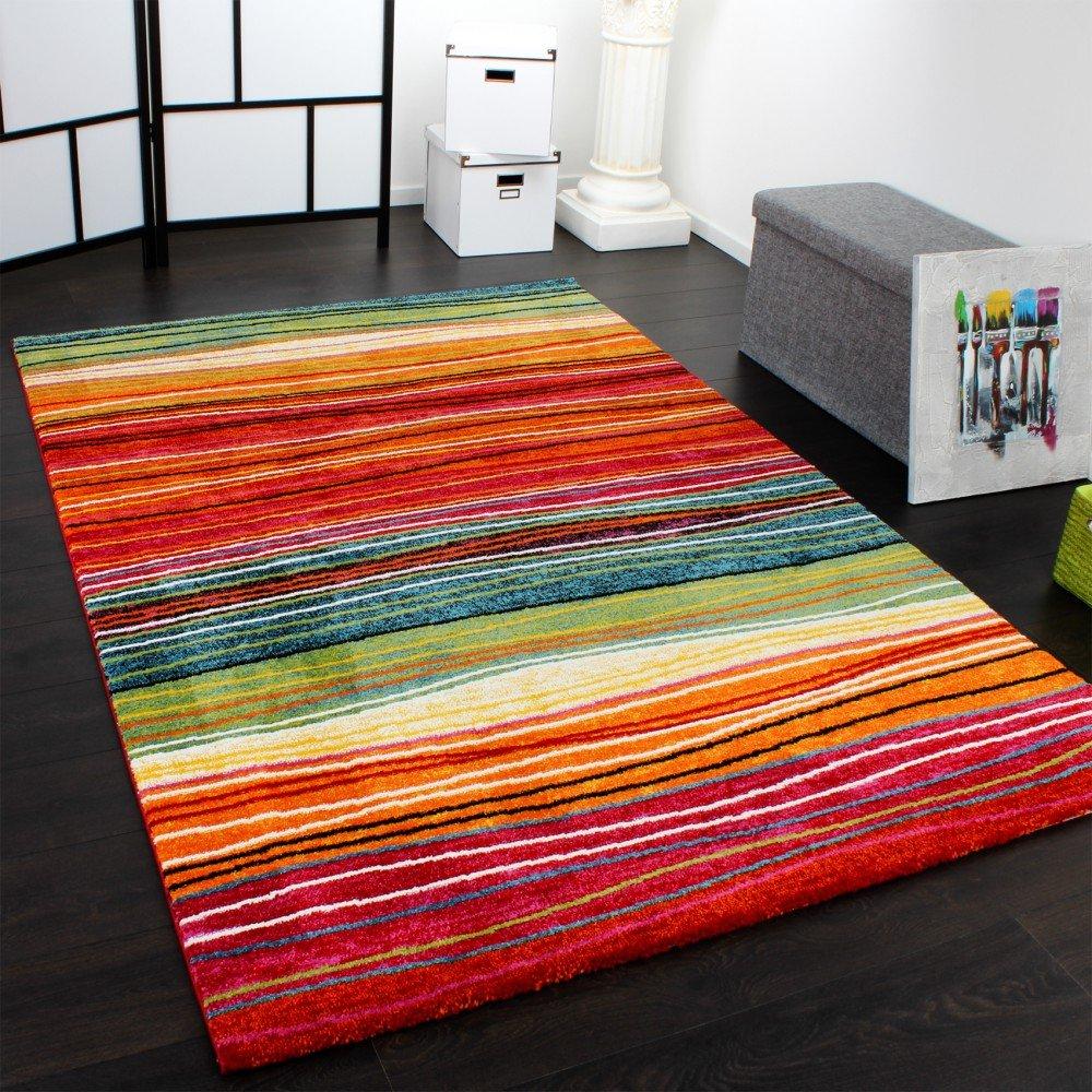 Bunter teppich  Teppich Modern Splash Designer Teppich Bunt Streifen Model Neu OVP ...
