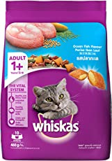 Whiskas Dry Cat Food, Ocean Fish for Adult cats, 480 g