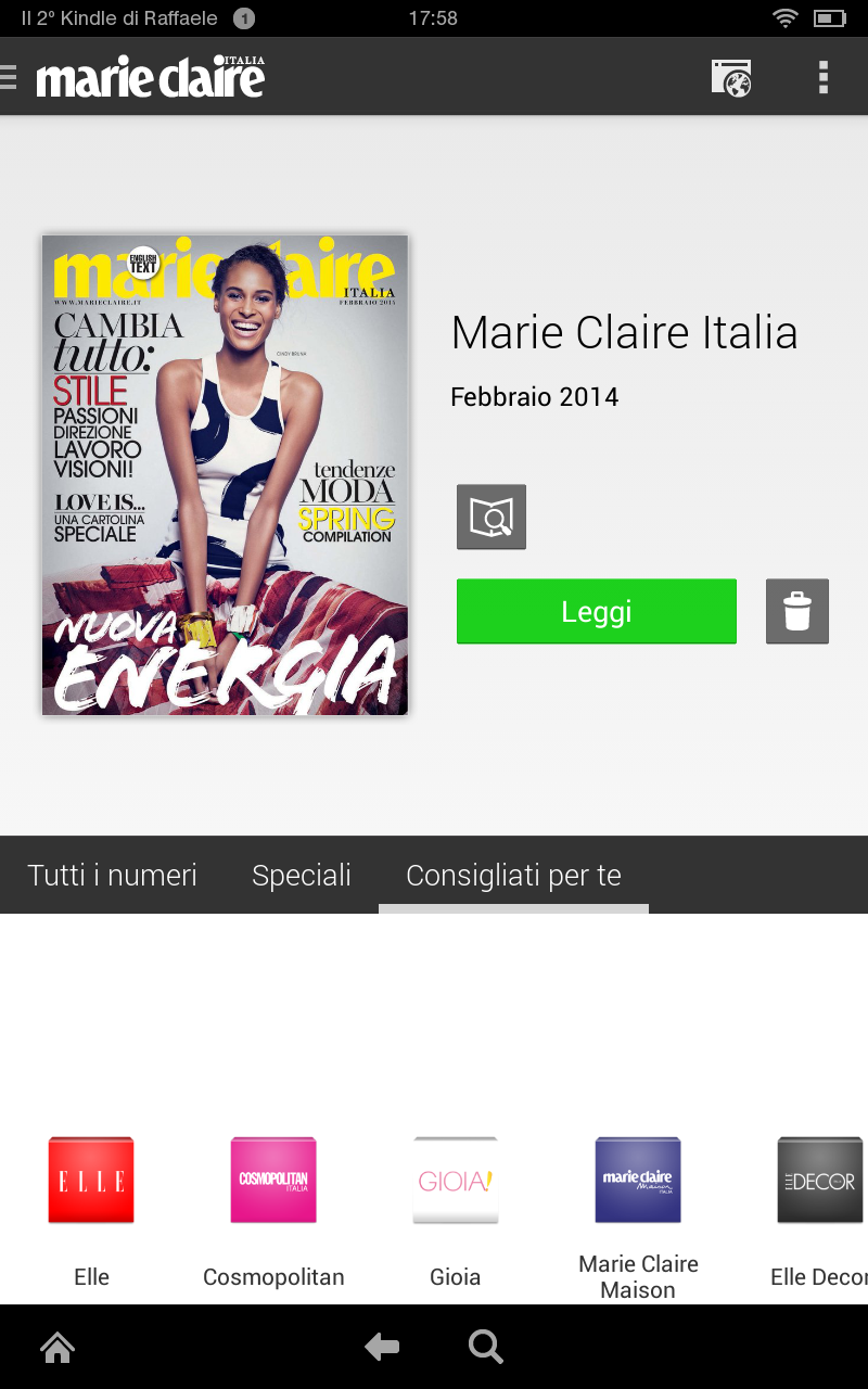 Marie claire italia appstore per android for Hearst magazines italia stage