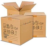 LEONARDO - Scatoloni 40x40x40 cm - Scatola di Cartone Doppia Onda - Imballaggi per Spedizione e Trasloco - 5 Pezzi